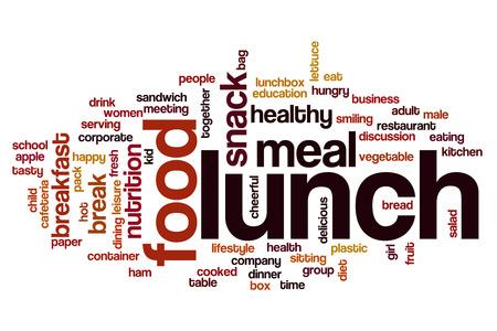 almuerzo: Almuerzo nube de palabras