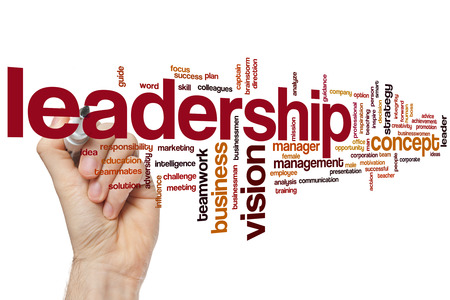 leadership: Leadership word cloud concept Stock Photo