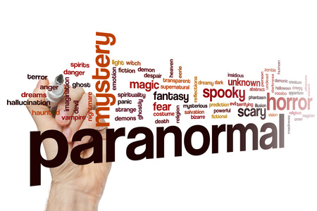 Paranormal concept word cloud background