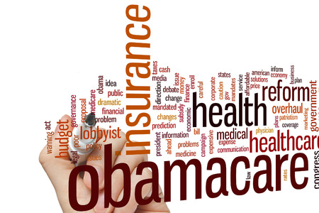 obama care: Obamacare concept word cloud background