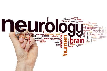 Neurologia nuvola concetto di parola