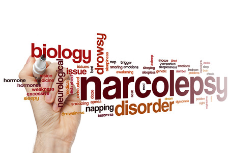 sleepiness: Narcolepsy word cloud concept