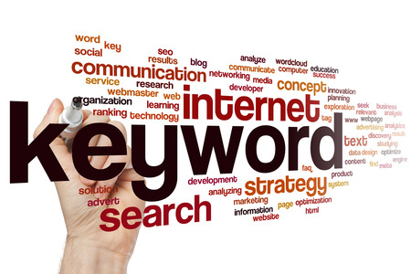to keyword: Keyword concept word cloud background