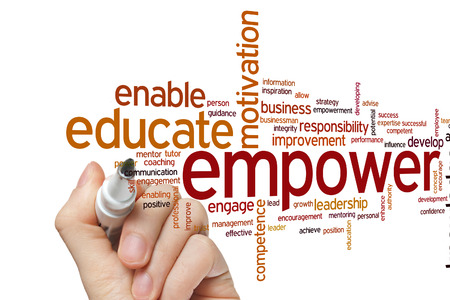 Empower concept word cloud background Banco de Imagens - 42511122