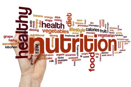 nutricion: Nutrici�n concepto de nube de palabras