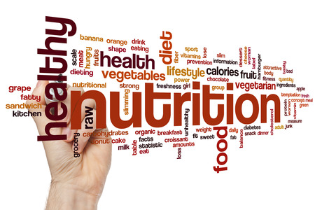 nutrition health: Nutrition word cloud concept Stock Photo