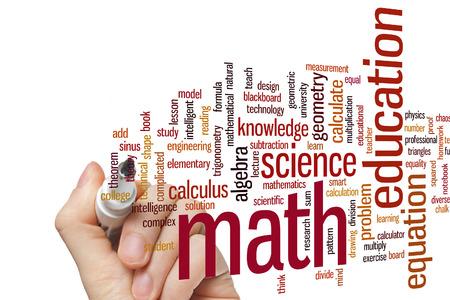teorema: Concepto de Matem�ticas nube de palabras de fondo Foto de archivo