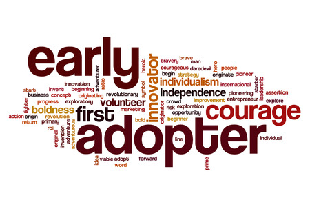 assertion: Early adopter word cloud