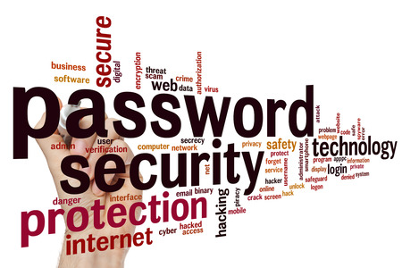 logon: Password security concept word cloud background
