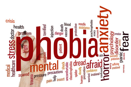 phobia: Phobia concept word cloud background Stock Photo