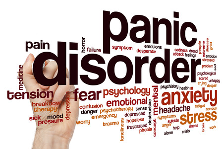 Panic disorder word cloud concept Stock Photo