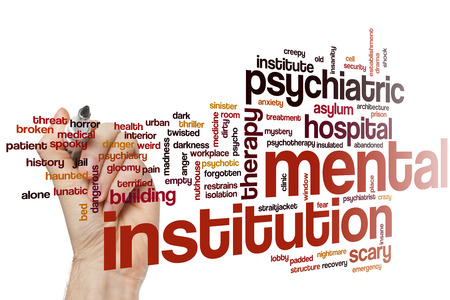 nuthouse: Mental institution concept word cloud background