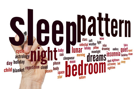 lullaby: Sleep pattern concept word cloud background