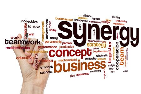synergy: Synergy word cloud Stock Photo