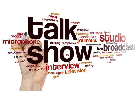 talk show: Talk show word cloud concept