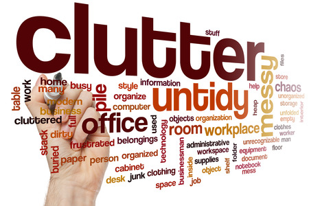 office chaos: Clutter word cloud
