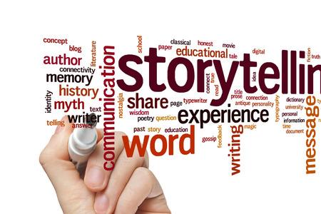 ストーリーテ リングの概念単語雲背景 写真素材
