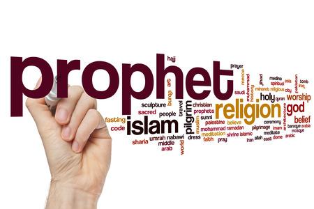 the prophets: Prophet word cloud Stock Photo