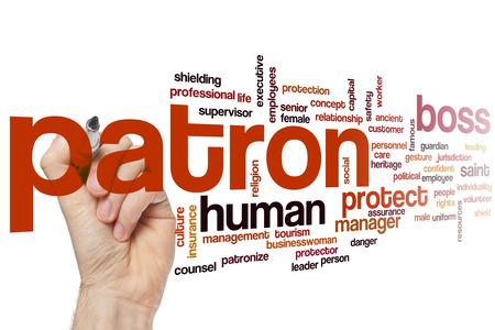 patron: Patron concept word cloud background
