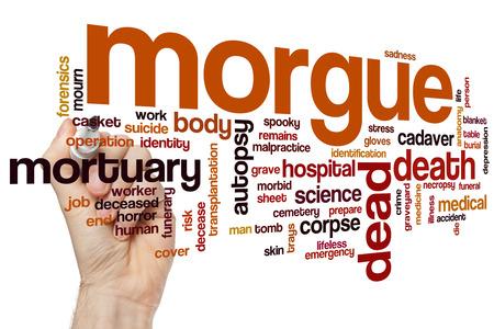 morgue: Morgue word cloud concept