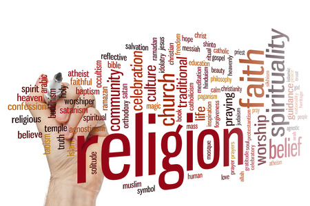 christian community: Religion concept word cloud background Stock Photo