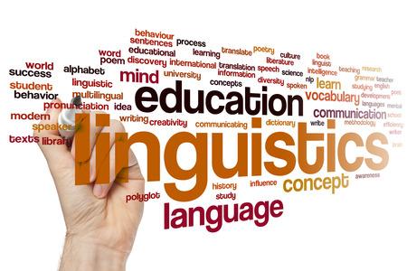 linguistics: Linguistics concept word cloud background