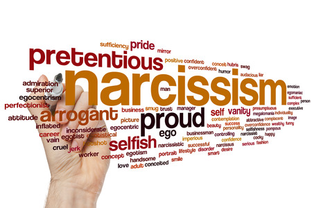 pretentious: Narcissism concept word cloud background
