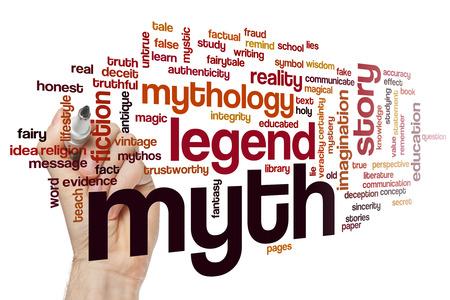 Myth word cloud concept