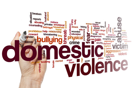victim: Domestic violence concept word cloud background