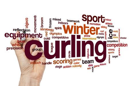 curling: Curling word cloud