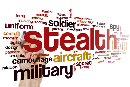 stealth: Stealth concept word cloud background Stock Photo