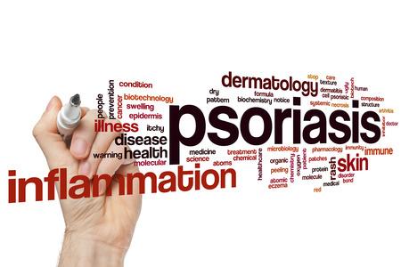 Psoriasis word cloud concept Banque d'images