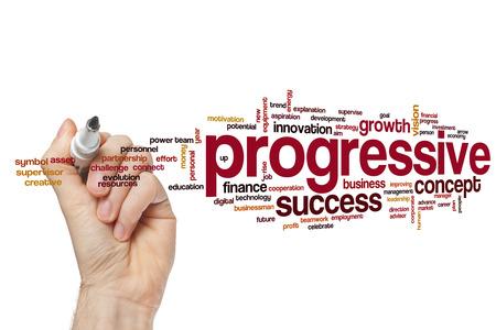 progressive: Progressive word cloud Stock Photo