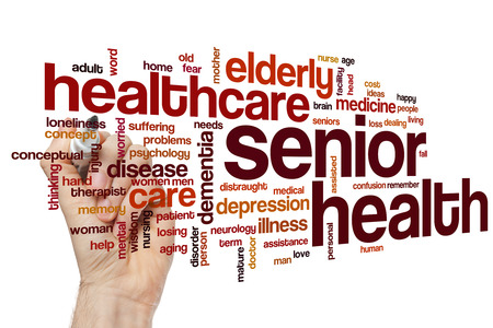 losing memory: Senior health word cloud concept