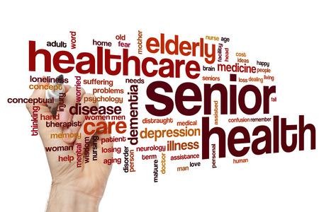 healthcare facility: Senior health word cloud concept
