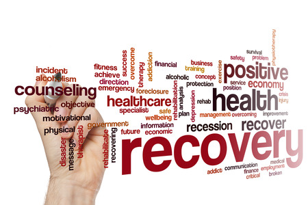 physical therapy: Recovery word cloud