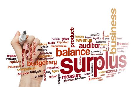 surplus: Surplus word cloud concept