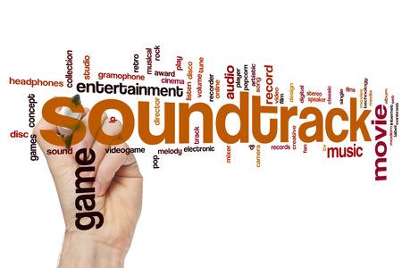 soundtrack: Soundtrack concept word cloud background