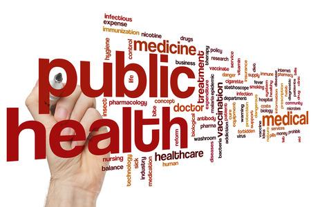 public health: Salud p�blica concepto de nube de palabras Foto de archivo