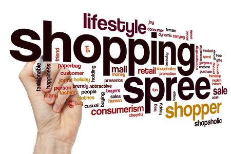 spree: Shopping spree word cloud