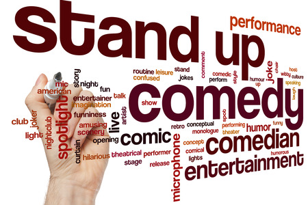 Stand up comedy concept word cloud background