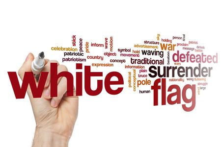 White flag word cloud
