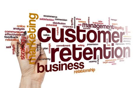 retention: Customer retention word cloud