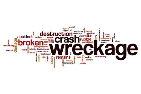 wreckage: Wreckage word cloud Stock Photo
