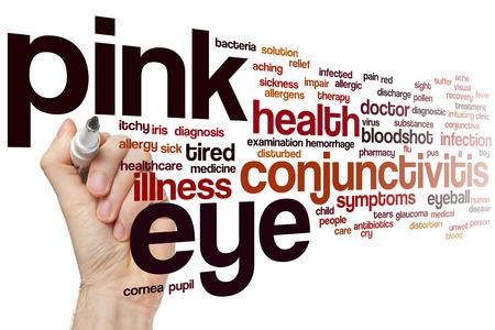 pus: Pink eye word cloud concept