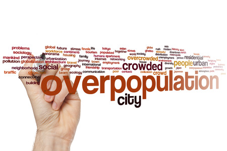 overpopulation: Overpopulation concept word cloud background