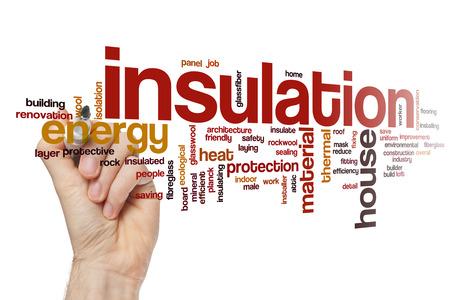 Insulation word cloud Foto de archivo