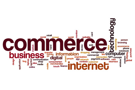 web screen: Commerce word cloud
