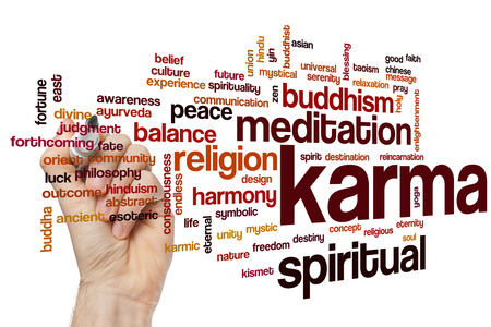 karma: Karma concept word cloud background