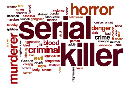 serial: Serial killer word cloud